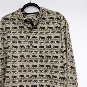 Woolrich Marching Moose Button Down Shirt